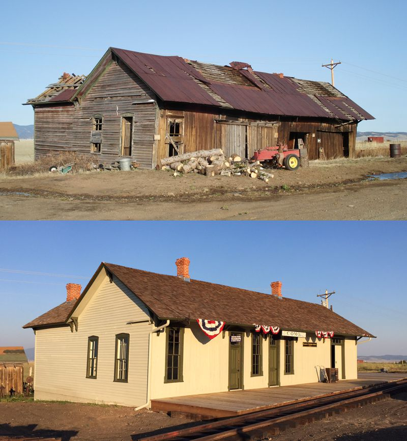 old and new pictures of the depot