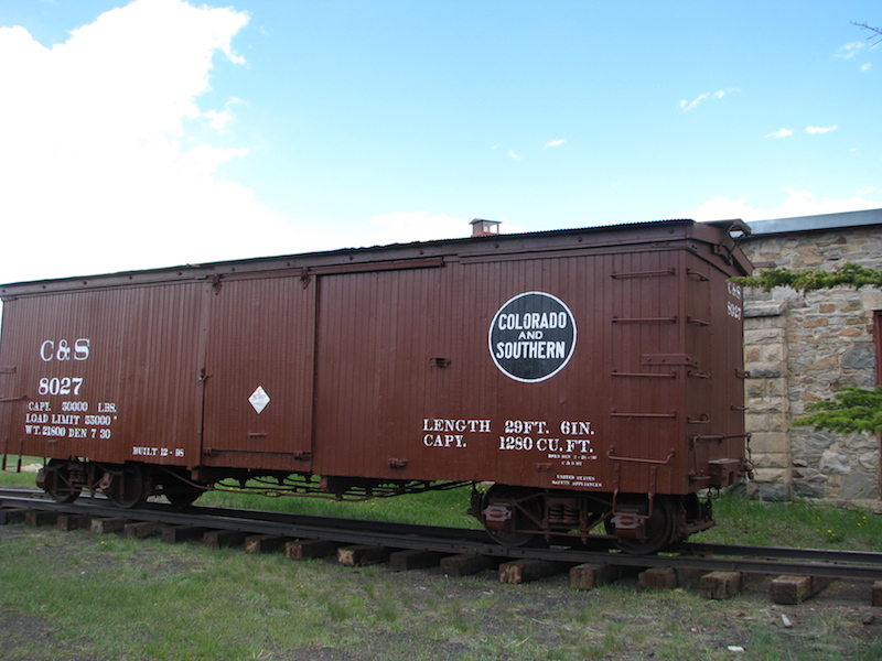 Colorado and Southern Boxcar 8027 near the Roundhouse
